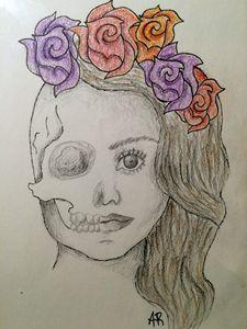 Lana Del Rey with Skull
