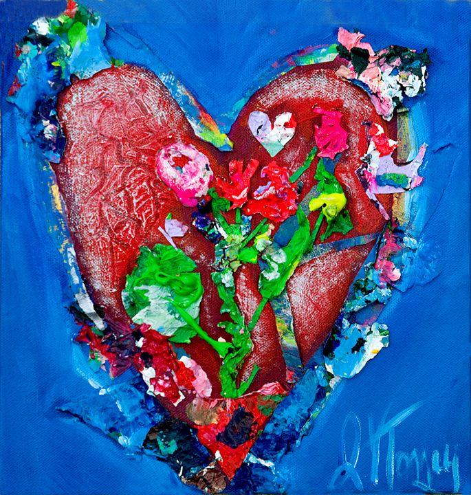 Blooming Heart - Art By Josie V Toney