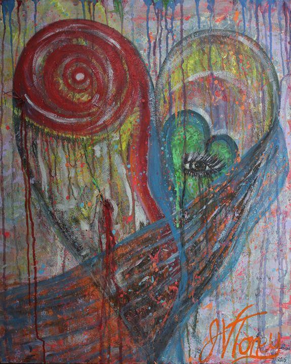 Eye Heart - Art By Josie V Toney