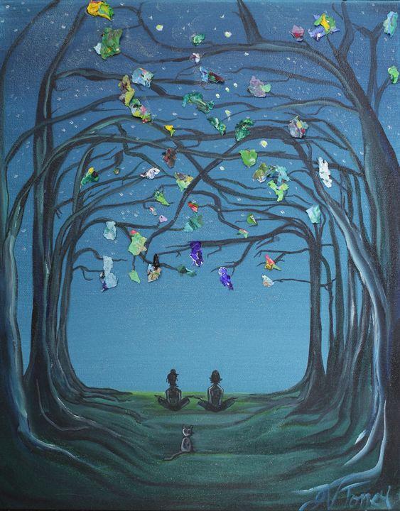 Zen in the Forest - Art By Josie V Toney