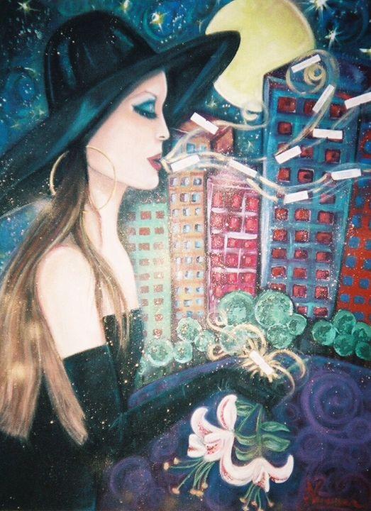 City Lady - Art By Josie V Toney