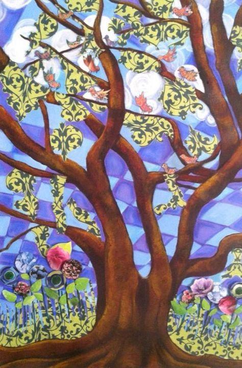 Lively Oaks - Art By Josie V Toney