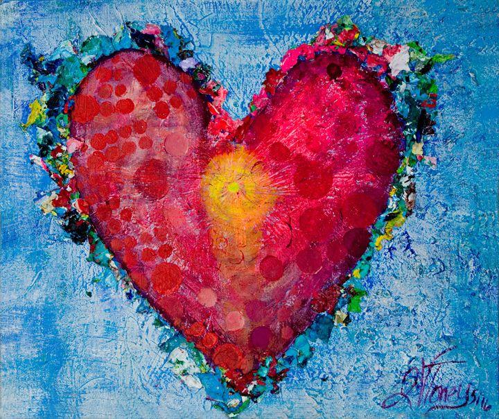 Heart Center - Art By Josie V Toney