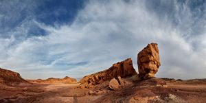 Rocks in the Timna Nature Reserve