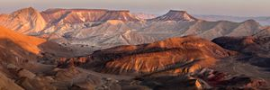 Evening in the Ramon Crater
