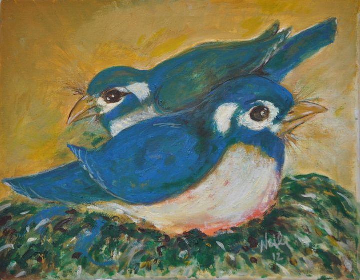Bluebirds - Fine Art by Neil Barnhart