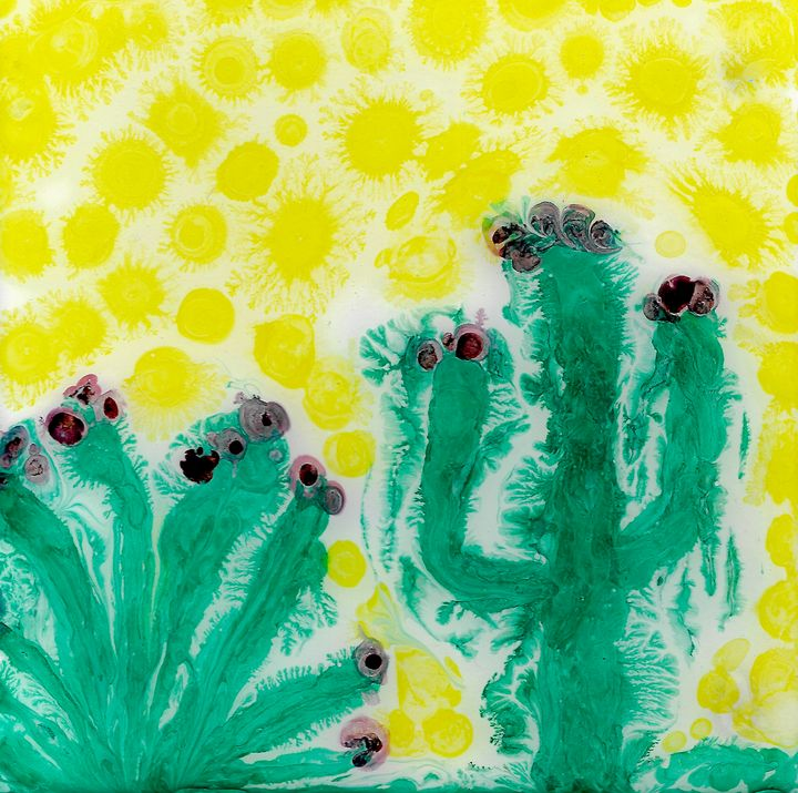 Sweltering Saguaro - Cassee Pours and Paints