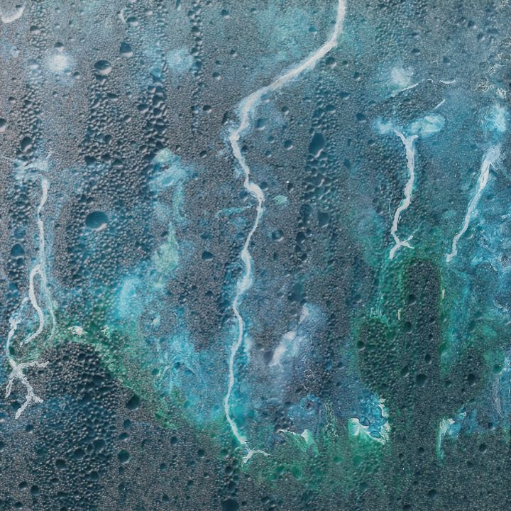 Monsoon Behind the Glass - Cassee Pours and Paints