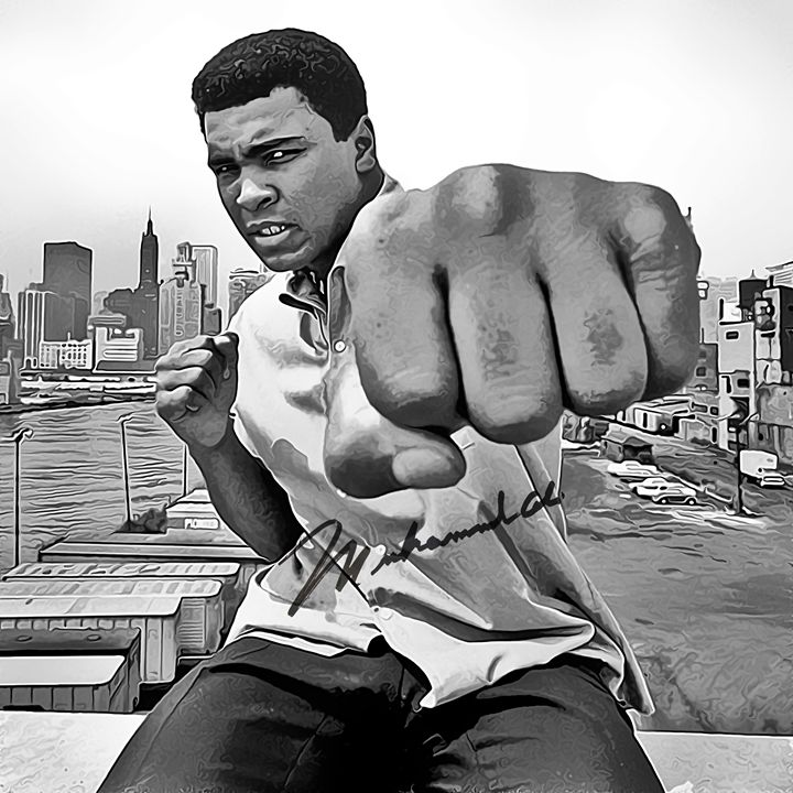 Muhammad Ali Art with Autograph - Keith Charlton