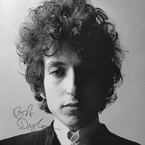 Bob Dylan Art with Autograph