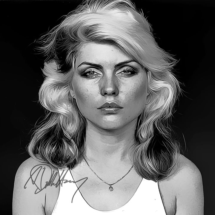 Debbie Harry Art with Autograph - Keith Charlton