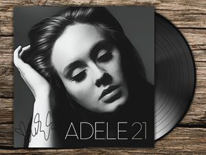 Adele 21 Art with Autograph