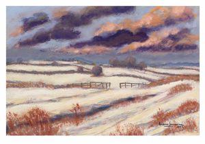 Snow Scene with dark clouds