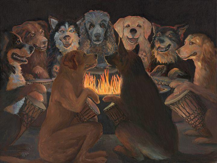 DOG DRUM CIRCLE - Wag With Joy