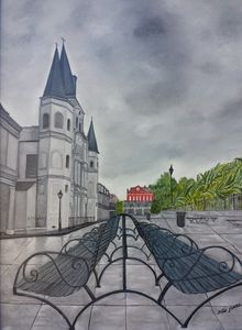 Rainy Day In Jackson Square