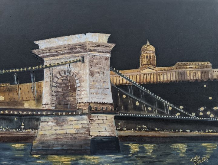 Buda Castle and Chain Bridge - Judy Jones