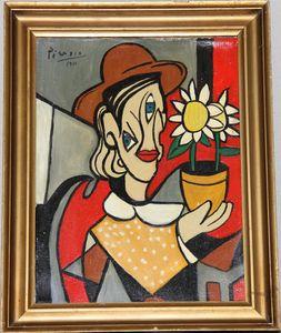 Pablo Picasso - Cubist Oil Original