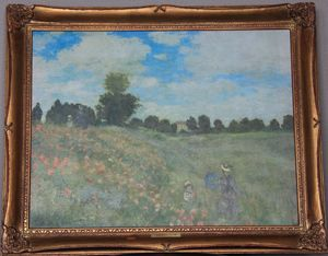 Poppy Field - Claude Monet - Framed