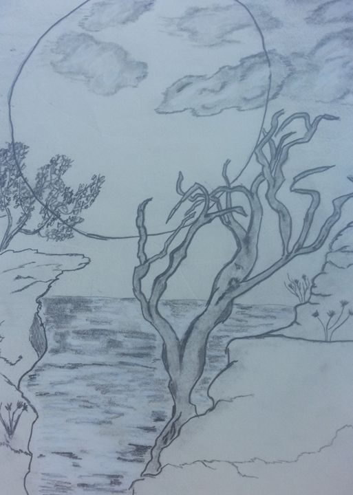 Tree on the cliff - Crazy tree sketches