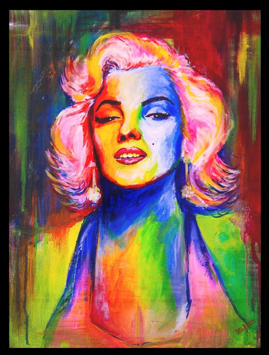 marilyn monroe - Rudran Art Work