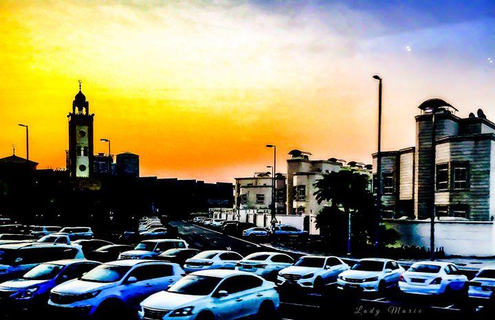SUNSET IN DUBAI - Lady Marie