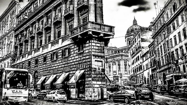 ROMAN STREETS IN B/W - Lady Marie