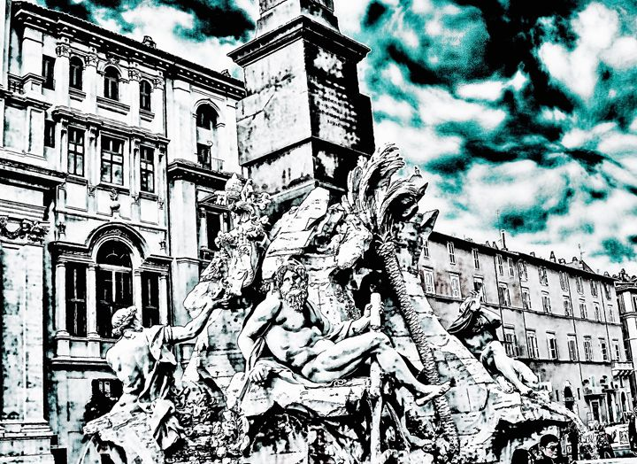 FOUNTAIN OF THE FOUR RIVERS-ROME - Lady Marie