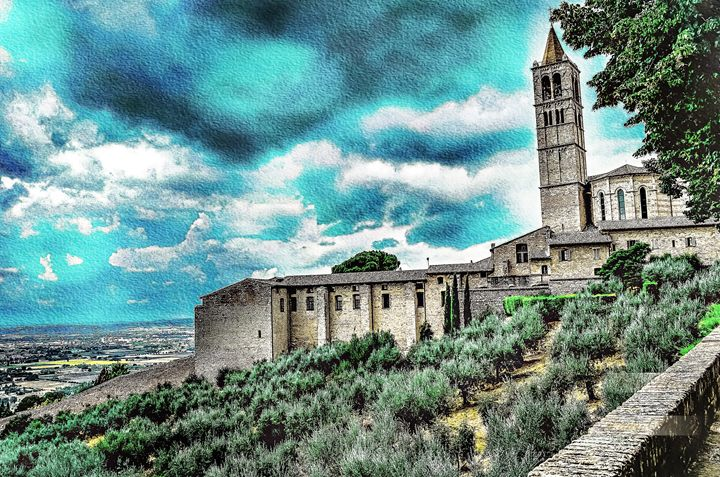 BLUE SKIES OVER ASSISSI - Lady Marie