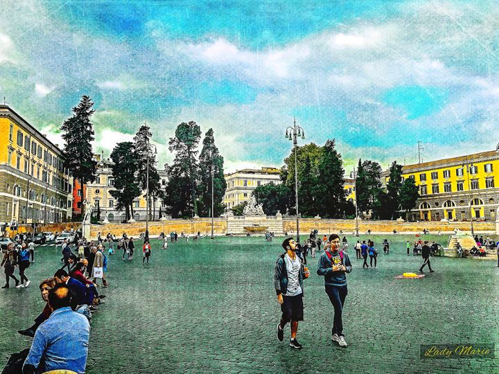 PIAZZA DEL POPOLO - PEOPLE'S SQUARE - Lady Marie