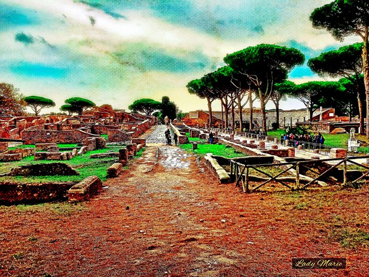 ROMAN ARCHEOLOGICAL SITE IN OSTIA - Lady Marie