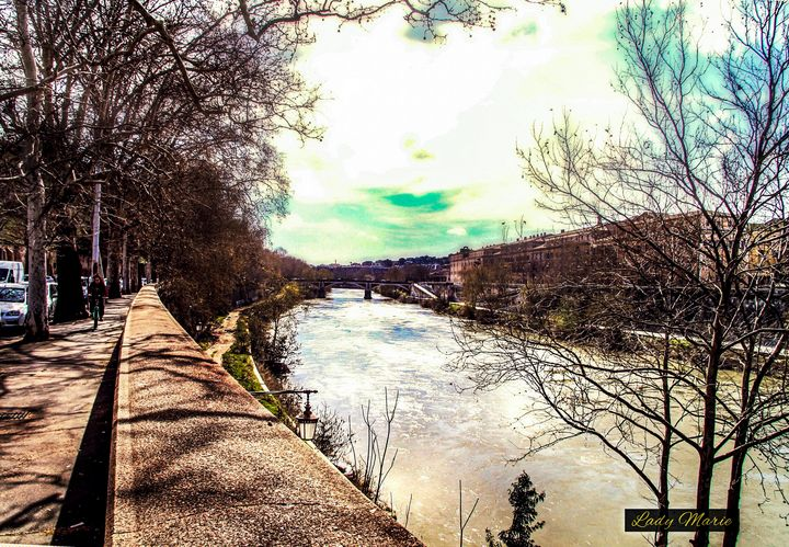 Springtime on the Tiber - Lady Marie