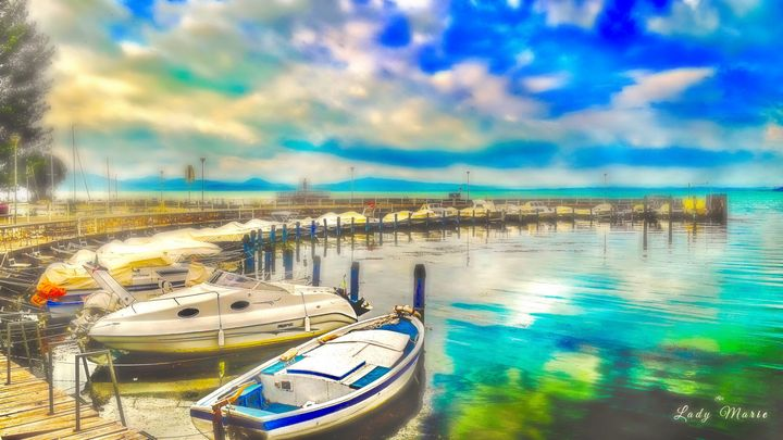 Watercolors on Tuscan Waters - Lady Marie
