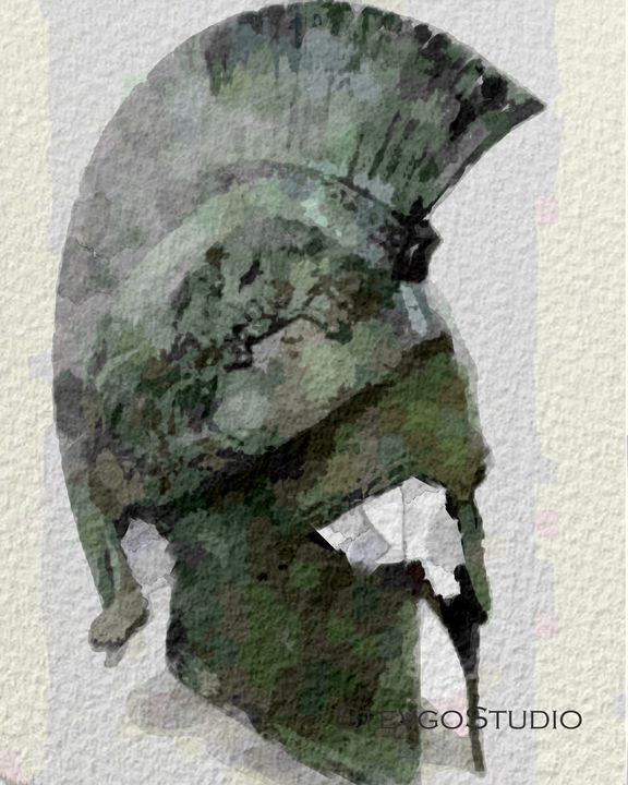 Classical Greek helmet A11127 - StevgoStudio