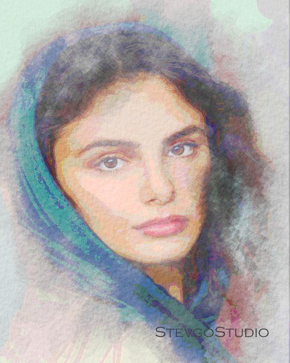 Blue Headscarf - StevgoStudio