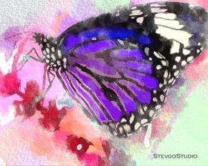 Mauve Butterfly B02031