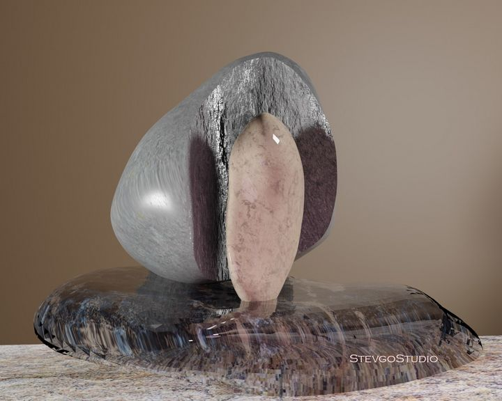 Sculpture for NFT SB0413 - StevgoStudio