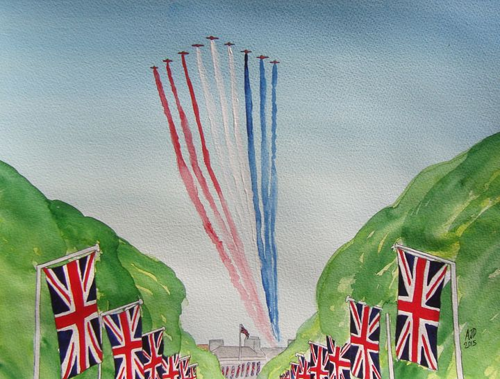 The Red Arrows over London - Adam Darlingford
