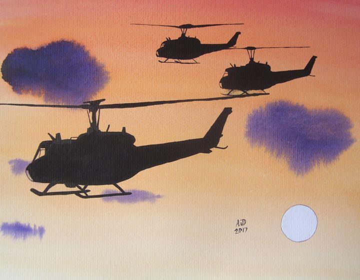 Huey Sunset - Adam Darlingford