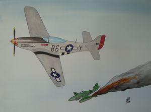 Mustang vs Me262