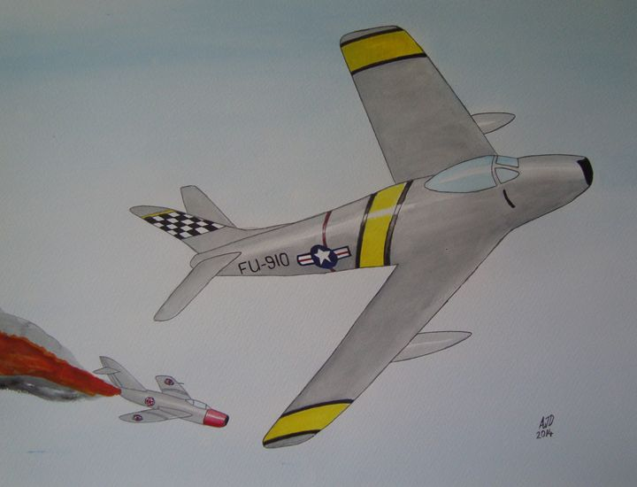 Sabre vs MiG 15 - Adam Darlingford