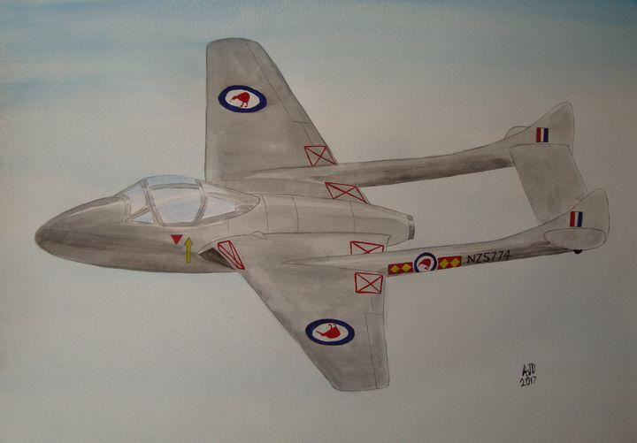 Vampire, 75 Squadron RNZAF - Falcon Peak Gallery