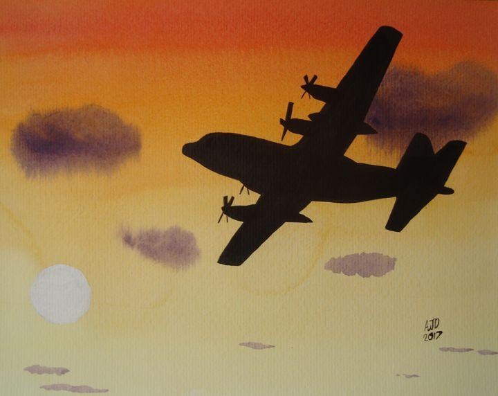 C-130 Hercules at Dusk - Adam Darlingford