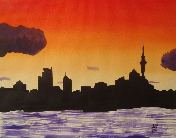 Auckland, New Zealand at dusk - Adam Darlingford