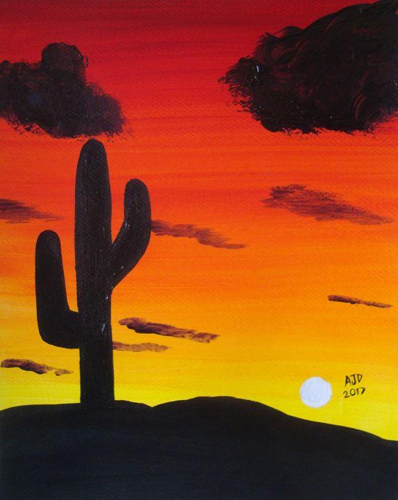 The desert at dusk - Adam Darlingford