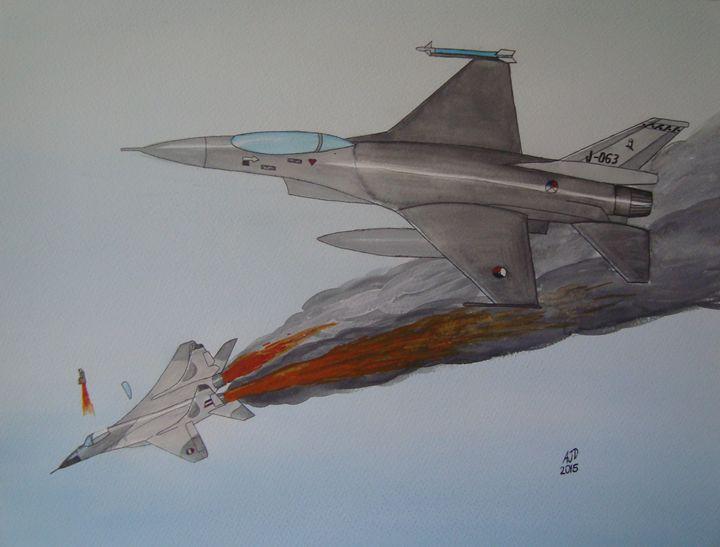 Dutch F-16 vs MiG29 - Adam Darlingford