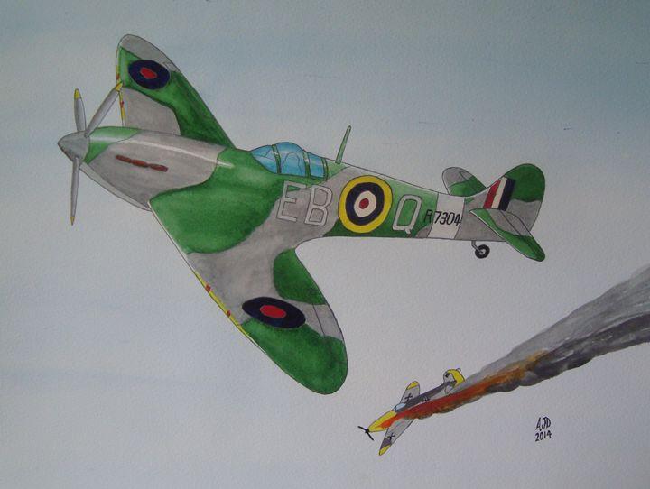 Spitfire vs Bf 109 - Adam Darlingford