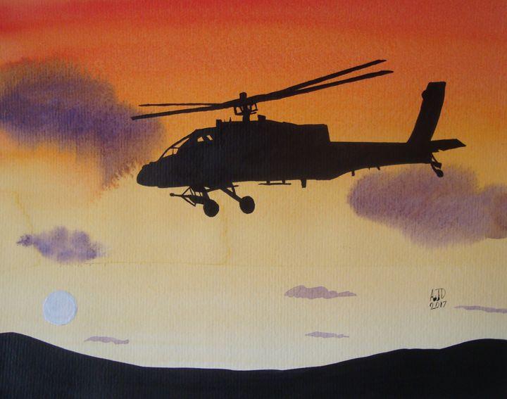 AH-64 Apache at Dusk - Adam Darlingford