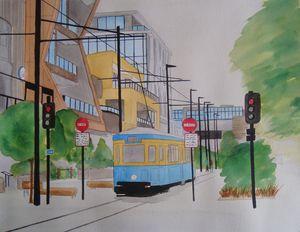 Oxford Terrace Tram