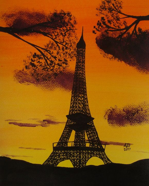 Eiffel Tower at Dusk - Adam Darlingford