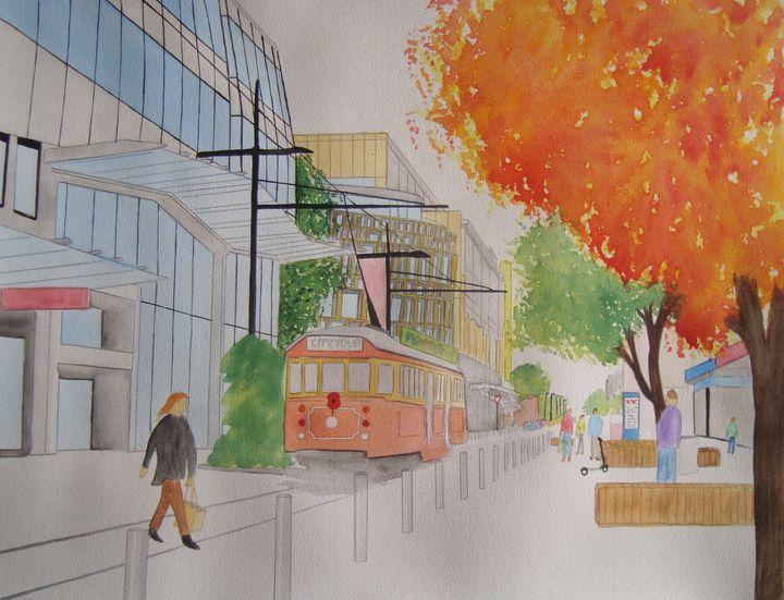 Tram on Cashel Street - Adam Darlingford